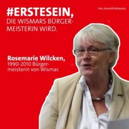Erstesein Rosemarie Wilcken