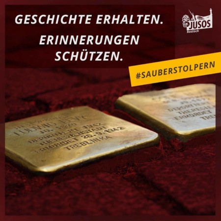 Sauberstolpern Jusos Rostock