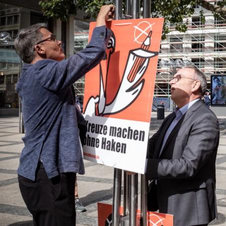Storch Heinar in Dortmund Norbert Walter Borjans Plakat