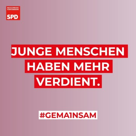 Junge Menschen haben mehr verdient SPD MV