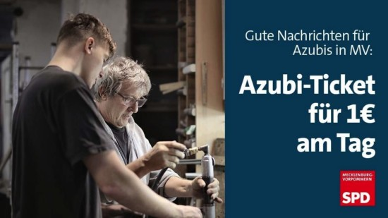 Azubiticket 1 Euro am Tag MV