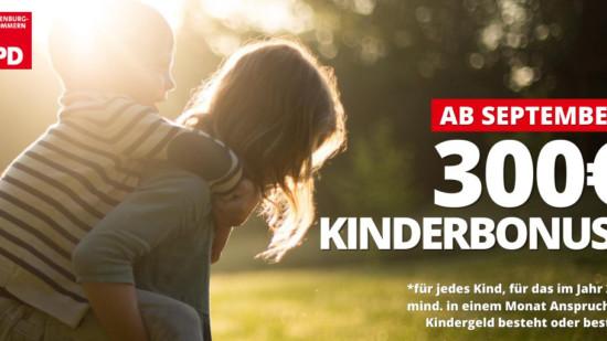 Kinderbonus SPD MV