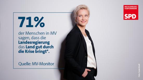 MV Monitor Krisenmanagement Zufriedenheit SPD MV