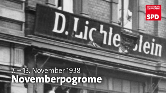 SPDMV Gedenken Novemberpogrome 1938/2020