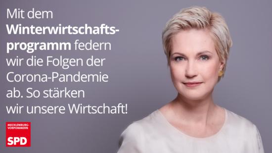 Winterwirtschaftsprogramm SPD MV Schwesig Corona