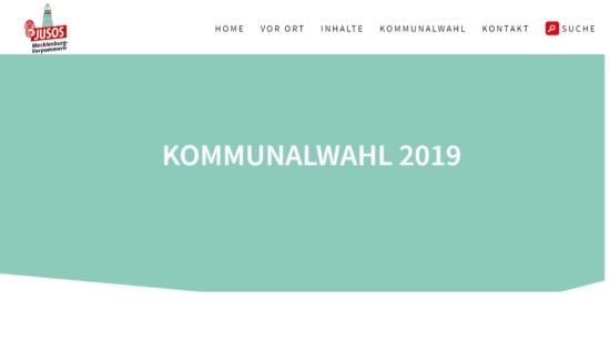 Die Homepage zur Kommunalwahl