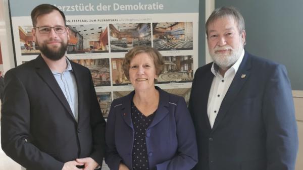 Die Sprecher des Arbeitskreises v.l.n.r.: Patrick Wild, Martina Tegtmeier, Ralf Mucha. Nicht im Bild: Anke Symanzig