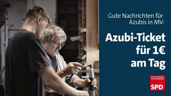 Azubiticket 1 Euro am Tag MV