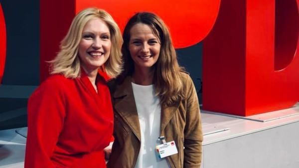 Manuela Schwesig / Bettina Martin auf dem Bundesparteitag