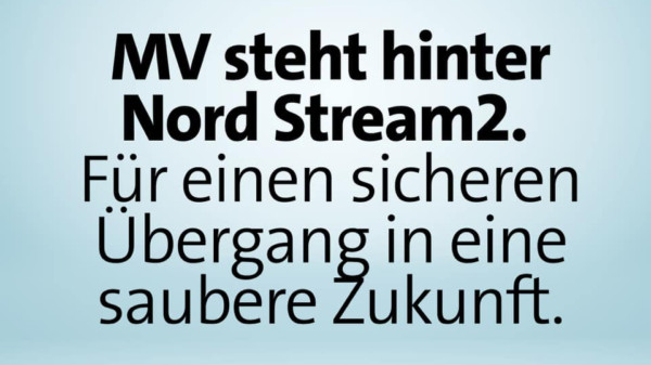 MV steht hinter Nord Stream 2