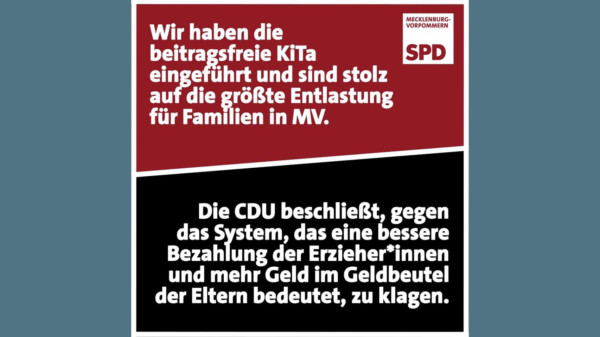 SPD MV Beitragfreie KITA