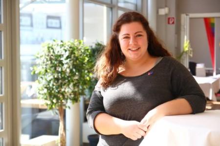 Katharina Wilke beim Landesparteivorstand 2019
