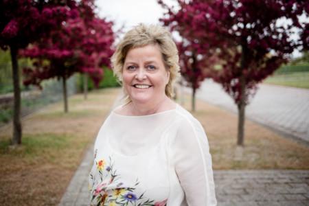 Iris Hoffmann am Rande des Landesparteitages 2017