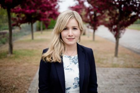 Nadine Julitz am Rande des Landesparteitages 2017